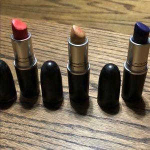 3 MAC lipsticks